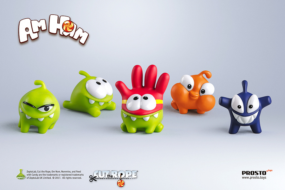 набор 14 - «Cut the Rope», 5 фигурок Фото 0